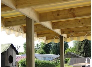 Poulie attache sandow, à fixer à l'aide d'une vis à bois ou d'un rivet