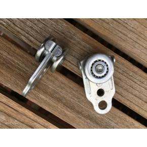 Roulette acier avec butée anti collision